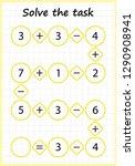 worksheet. mathematical puzzle...   Shutterstock .eps vector #1290908941