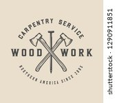 vintage carpentry  woodwork and ...   Shutterstock .eps vector #1290911851