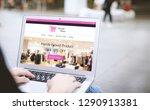 online shopping concept.female... | Shutterstock . vector #1290913381