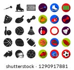 different kinds of sports black ... | Shutterstock .eps vector #1290917881