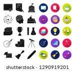 school and education black flat ... | Shutterstock .eps vector #1290919201
