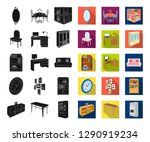 furniture and interior black... | Shutterstock .eps vector #1290919234