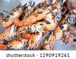 prawn grill sea food | Shutterstock . vector #1290919261
