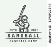 vintage baseball sport logo ...   Shutterstock . vector #1290921844