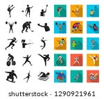 different kinds of sports black ... | Shutterstock .eps vector #1290921961