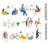 co working space  concept... | Shutterstock .eps vector #1290925924