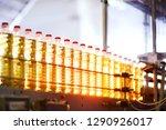 sunflower oil. line for the... | Shutterstock . vector #1290926017