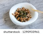 japanese salad with a sea kale  ... | Shutterstock . vector #1290933961