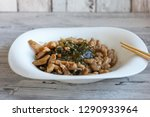 japanese salad with a sea kale  ... | Shutterstock . vector #1290933964