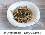 japanese salad with a sea kale  ... | Shutterstock . vector #1290933967