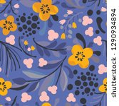 seamless vector floral pattern. ... | Shutterstock .eps vector #1290934894