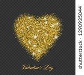 valentine day gold glitter... | Shutterstock .eps vector #1290935044