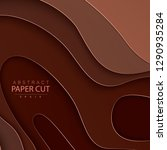 paper cut background. abstract... | Shutterstock .eps vector #1290935284