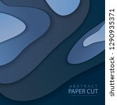 paper cut background. abstract... | Shutterstock .eps vector #1290935371