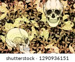 seamless pattern with human... | Shutterstock .eps vector #1290936151