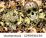 seamless pattern with human... | Shutterstock .eps vector #1290936154