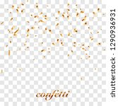 golden confetti isolated on... | Shutterstock .eps vector #1290936931