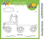 dot to dot drawing worksheet.... | Shutterstock .eps vector #1290939034