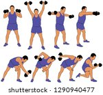 set of vector icons of man in... | Shutterstock .eps vector #1290940477