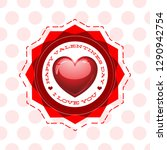 happy valentines day i love you ... | Shutterstock .eps vector #1290942754