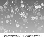 snow flakes falling macro... | Shutterstock .eps vector #1290945994