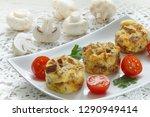 omelette with mushrooms ... | Shutterstock . vector #1290949414