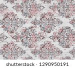 vintage damask seamless pattern ... | Shutterstock . vector #1290950191