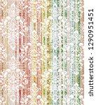 vintage damask seamless pattern ... | Shutterstock . vector #1290951451