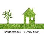 concept or conceptual house...   Shutterstock . vector #129095234