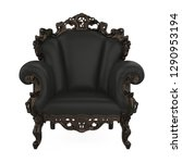 throne chair isolated. 3d... | Shutterstock . vector #1290953194