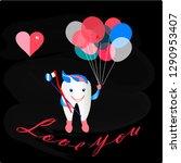 love you tooth. vector...   Shutterstock .eps vector #1290953407