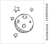 moon vector sketch | Shutterstock .eps vector #1290955414