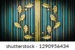 wrought iron gates  ornamental... | Shutterstock . vector #1290956434