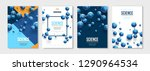 vertical banners set with blue... | Shutterstock .eps vector #1290964534