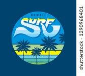 hawaii surf   badge logo vector ...   Shutterstock .eps vector #1290968401
