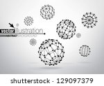 composition of wire frame... | Shutterstock .eps vector #129097379