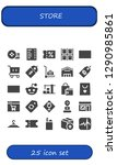 store icon set. 25 filled... | Shutterstock .eps vector #1290985861