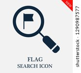 flag search icon. editable flag ...   Shutterstock .eps vector #1290987577