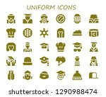 uniform icon set. 30 filled... | Shutterstock .eps vector #1290988474