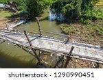 su tong pae bamboo bridge with...   Shutterstock . vector #1290990451