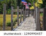 su tong pae bamboo bridge with...   Shutterstock . vector #1290990457