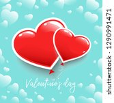 poster for valentine's day or... | Shutterstock .eps vector #1290991471