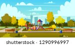vector background of cartoon... | Shutterstock .eps vector #1290996997