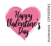 happy valentine's day vector... | Shutterstock .eps vector #1291005061