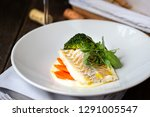 cod fish fillet with mashed... | Shutterstock . vector #1291005547