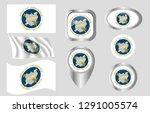 flag of chicopee  massachusetts   Shutterstock .eps vector #1291005574