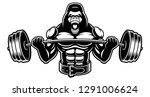 vector image of a gorilla with... | Shutterstock .eps vector #1291006624