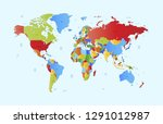 color world map vector | Shutterstock .eps vector #1291012987
