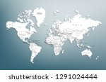 world map paper. political map... | Shutterstock .eps vector #1291024444