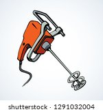 vibrant orange power grout mix...   Shutterstock .eps vector #1291032004
